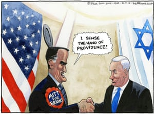 31.07.12 Steve Bell on Mitt Romney in Israel