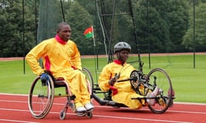 Burkina Faso athletes train at Brentwood school