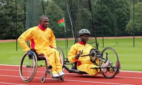 Burkina Faso athletes train at Brentwood school