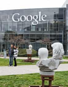 Outside Google HQ in Mountain View, California