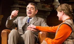 Rowan Atkinson and Felicity Montagu in Simon Gray's Quartermaine's Term