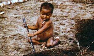 Jared Diamond: a Pume indian baby in Venezuela