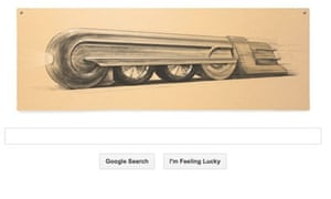 Google doodle –Raymond Loewy train design