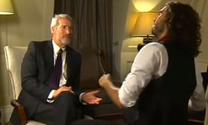 Jeremy Paxman speaks to Russell Brand