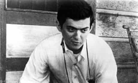 Stanley Kubrick on the set of his first film, Fear and Desire