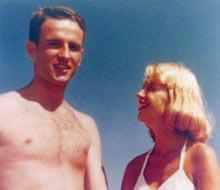 Sylvia Plath with Gordon Lameyer in 1954