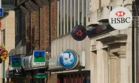 Banks in high street