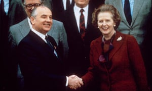 Mikhail Gorbachev and Margaret Thatcher