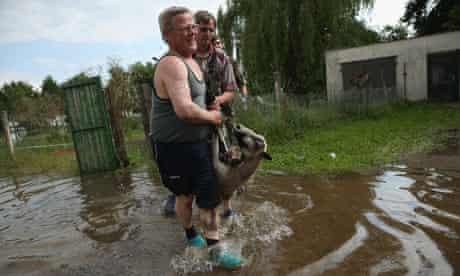 Floods Elbe river, Germany