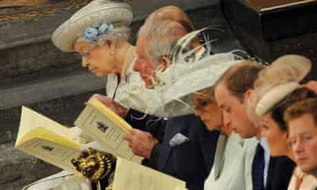 The Queen's coronation anniversary at Wesminster Abbey