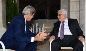 John Kerry and Mahmoud Abbas