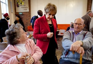 Margaret Hodge at a coffee afternoon in Barking