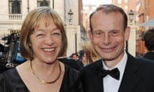 Jackie Ashley with her husband, Andrew Marr