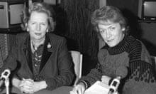 Margaret Thatcher and Sue MacGregor