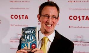 Nathan Filer with his Costa award-winning book