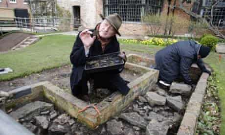 Project leader Richard Kemp at the New Place dig site in Stratford-upon-Avon.