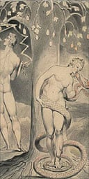The temptation and the fall of Eve (1807), released today Monday 5 July 2004, which is part of the exhibition Paradise Lost, the poem and its illustrators, at the Wordsworth Trust in Grasmere