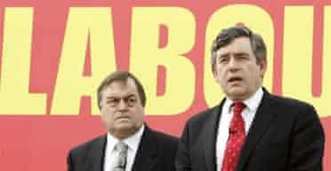 Gordon Brown and John Prescott campaign on housing