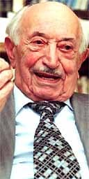 Simon Wiesenthal at his office in Vienna.