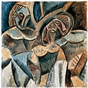 Picasso: Three figures under a tree, 1907