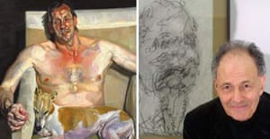 Lucian Freud's Eli and David (left) and Frank Auerbach