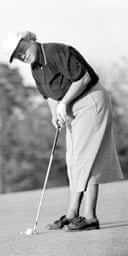 Patty Berg, putting in 1955. Photograph: AP