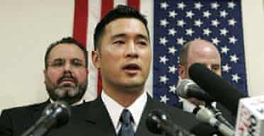 Lieutenant Ehren Watada gives a speech last year, after deciding not to serve in Iraq