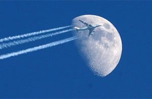 A plane flying across the sky
