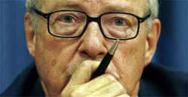 Hans Blix led the UN search for weapons of mass destruction in Iraq until June 2003. Photograph: Kathy Willens/AP