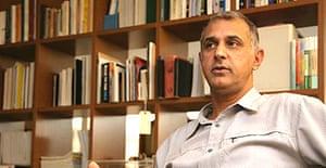 Senan Abdelqader, an Israeli Arab architect at his office in Jerusalem