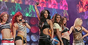 The Pussycat Dolls perform at the Live Earth concert at Wembley stadium in London, 07 July 2007.