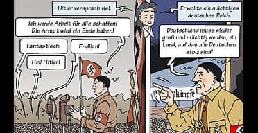 Detail from Die Suche comic book on the Holocaust