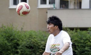 Evo Morales has signed for Litoral, a minor league football team in La Paz.