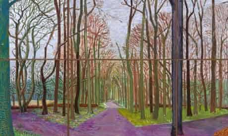 David Hockney's Woldgate Woods
