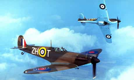 RAF Spitfire and Hurricane aircraft. Photograph: Fox Photos/Getty Images