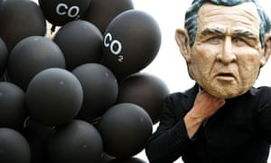 bush climate change G8 carbon emissions