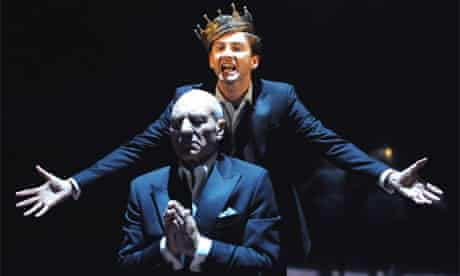Patrick Stewart and David Tennant in Hamlet by the Royal Shakespeare Company at the Courtyard Theatre, Stratford-upon-Avon