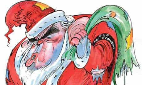 Father Christmas reinvented by artists