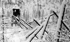 Stalinist gulag prison camp in Siberia