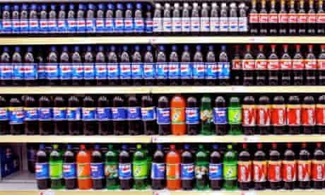 Supermarket soft drinks and sodas