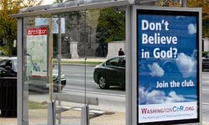 Washington DC nontheist, atheist bus shelter advert