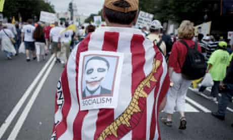 Tea Party protest in Washington, Obama as socialist