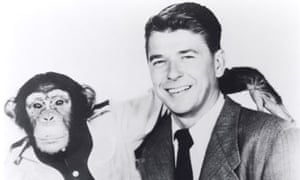 Ronald Reagan as actor in Bedtime for Bonzo