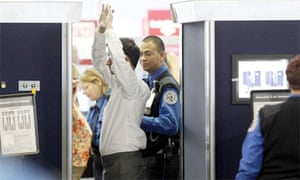 Full body scanning under TSA rules at Chicago's O'Hare airport