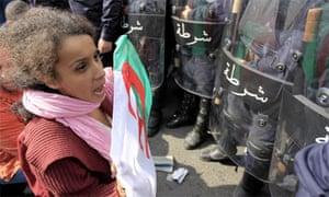 Protest Algiers, Algeria, February 2011