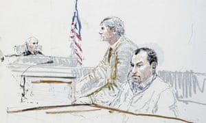 Ahmed Ressam, the 'millennium bomber', in court in 2005