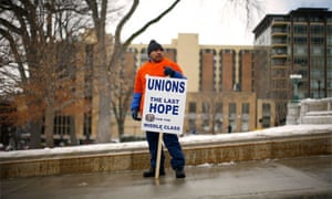Wisconsin protest, Madison, unions