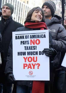 US Uncut demonstration at a Bank of America branch 26 February 2011 New York