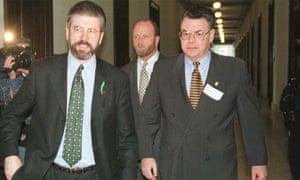 Congressman Peter King of New York with Gerry Adams 1998