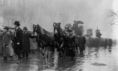 Procession in memory of victims of Triangle Shirtwaist Factory fire, New York 1911